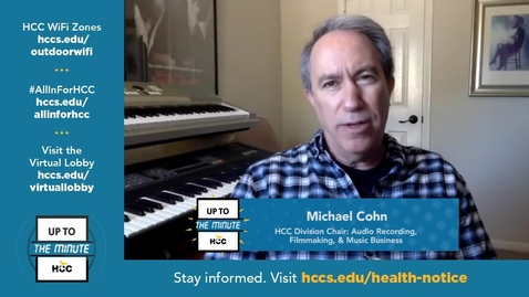 Thumbnail for entry HCCTV Up To The Minute   Michael Cohn  .Media Arts Chair