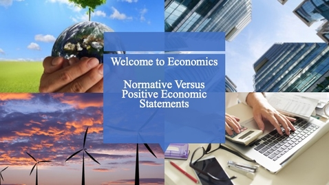 Thumbnail for entry Welcome to Economics - Marginal Analysis