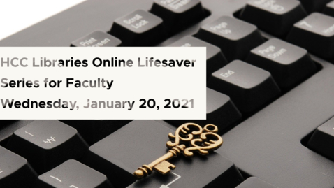 Thumbnail for entry Resources from the Library: Library Lifesaver Series