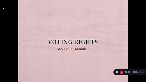 Thumbnail for entry Voting Rights, September 2020