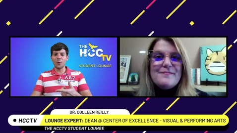 Thumbnail for entry The HCCTV Student Lounge | Dean Colleen and the Creative Arts Electives