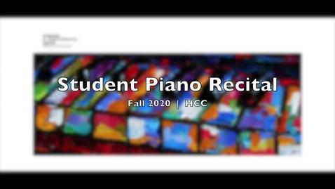 Thumbnail for entry Piano Recital Fall 2020