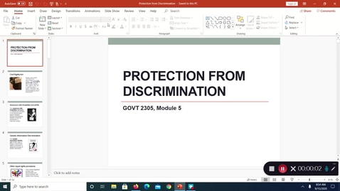 Thumbnail for entry Protection from Discrimination, Sept. 2020