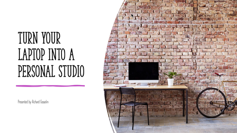 Thumbnail for entry How to Turn Your Laptop Into a Personal Studio