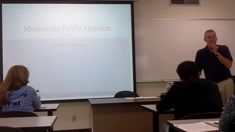 Thumbnail for entry Measuring Public Opinion: Professor Tannahill's Lecture of October 4, 2012