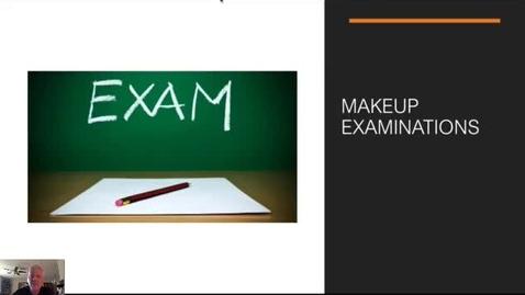 Thumbnail for entry Makeup Examinations