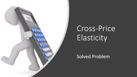 Thumbnail for entry Cross-Price Elasticity Calculation Problem