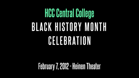 Thumbnail for entry Black History Month Celebration 2012