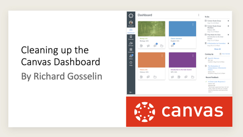 Thumbnail for entry Cleaning Up the Canvas Dashboard