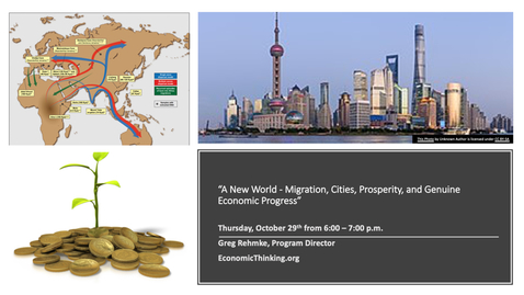 """Thumbnail for entry """"A New World - Migration, Cities, Prosperity, and Genuine Economic Progress"""" - Greg Rehmke"""