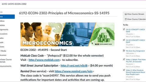 Thumbnail for entry Video Orientation to ECON 2302 Second Start