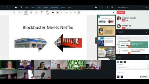 "Thumbnail for entry Flex Campus Monday, November 2, 2020 - ""Blockbuster Meets Netflix"""