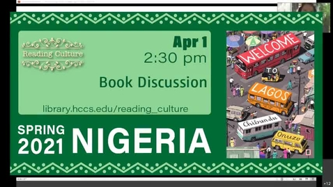 Thumbnail for entry Reading Culture Book Discussion, April 1, 2021