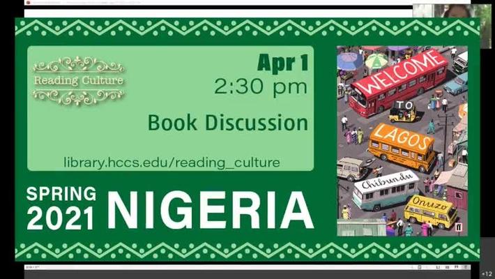 Reading Culture Book Discussion, April 1, 2021