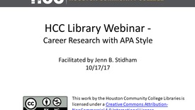 Thumbnail for entry Career/APA Research Session (Heidbreder)