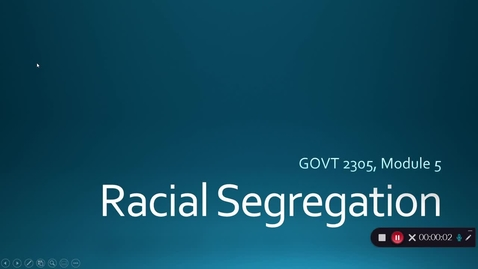 Thumbnail for entry Racial Segregation, September 2020