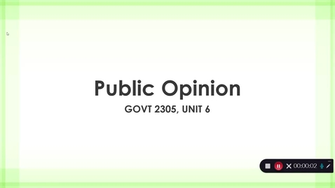Thumbnail for entry Public Opinion, September 2020