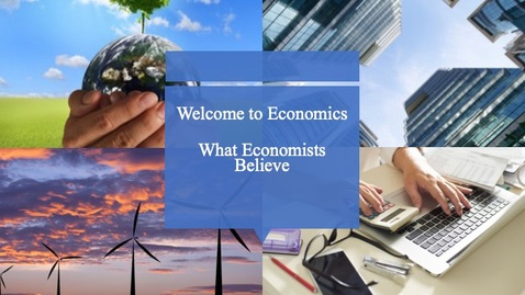 Thumbnail for entry Clip of What Economists Believe