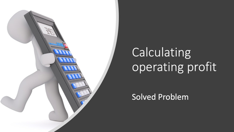 Thumbnail for entry Calculating Operating Profit