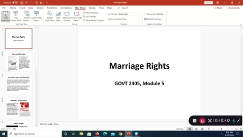 Thumbnail for entry Marriage Rights, September 2020
