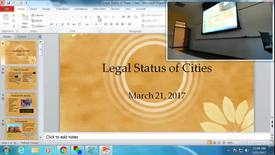 Thumbnail for entry Legal Status of Texas Cities: Professor Tannahill's Lecture of March 21, 2017