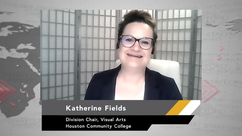 Thumbnail for entry Division Chair Fields Discusses Student Art Show Digital Future