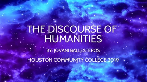 Thumbnail for entry Jovani Ballesteros's Humanity Video