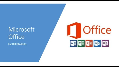 Thumbnail for entry How HCC Students Can Obtain Microsoft Office for Free