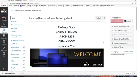 Thumbnail for entry (5 of 12) Faculty Preparedness Series: How to Manage a Module, Upload Documents, and Create Pages