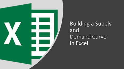 Thumbnail for entry Creating a Supply and Demand Diagram in Excel