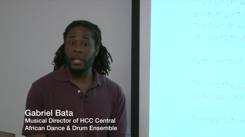 Thumbnail for entry Lecture: Yanvalou: The Haitian Voudoun Dance of Damballah Lecture (Part 1 of 3)