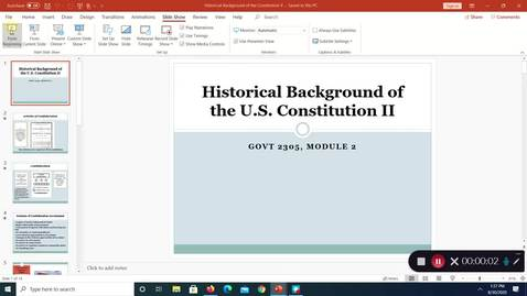 Thumbnail for entry Historical Baackground of the Consitution, II