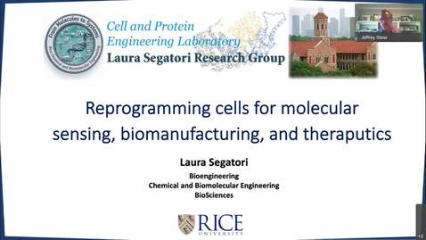 Thumbnail for entry Dr. Laura Segatori, Associate Professor of Bioengineering, Chemical and Molecular Biology & BioSciences, Rice Un-20201204 1956-1