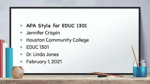 Thumbnail for entry EDUC 1301 APA Citations