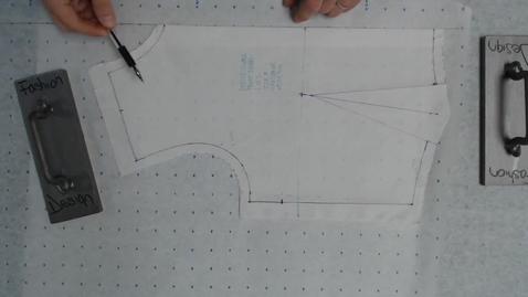 Thumbnail for entry Draping - Transfer Bodice Sloper on Paper Part 1