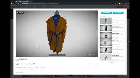 Thumbnail for entry Sketchfab Fashion Promo Collection 2020