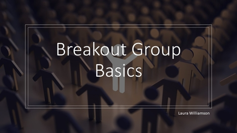 Thumbnail for entry Breakout Groups (July 31)