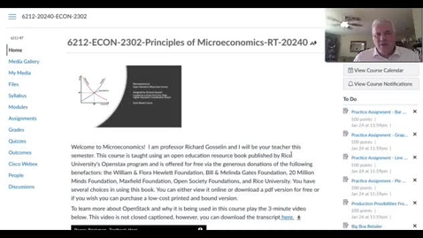 Thumbnail for entry ECON 2302 Spring 2021 - Orientation