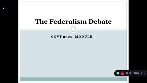 Thumbnail for entry Federalism Debate, September 2020