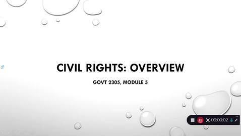 Thumbnail for entry Civil Rights Overview, September 2020