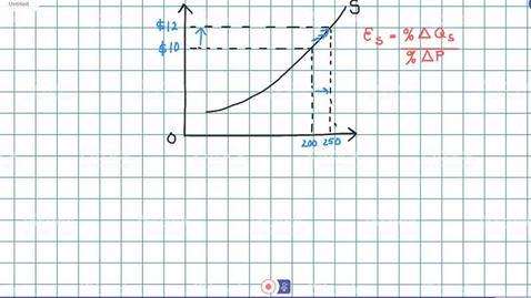 Elasticity of Supply Calculation