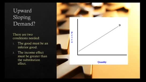 Thumbnail for entry Upward Sloping Demand Curve
