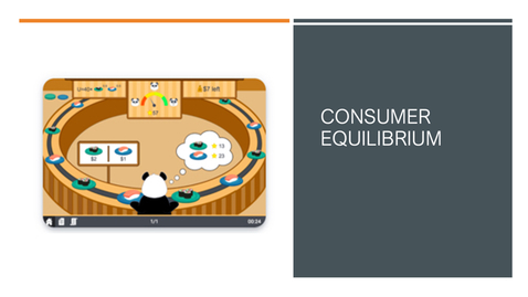 Thumbnail for entry Consumer Equilibrium Experiment Tutorial