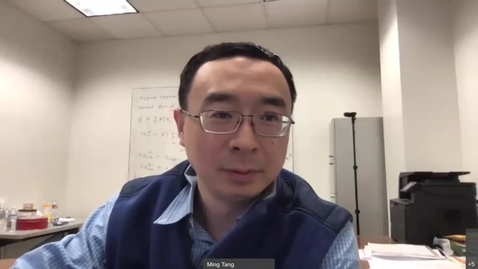 Thumbnail for entry Dr. Ming Tang Assistant Professor Materials Science and Nano-Engineering, Rice University-20201120 1959-1