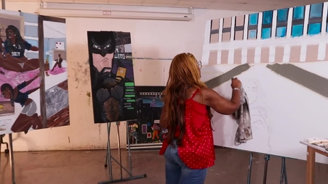 Thumbnail for entry Studio Art Student Success Shemekia Dickerson