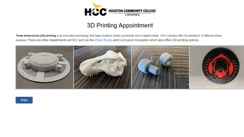 Thumbnail for entry 3D Printing and HCC Libraries