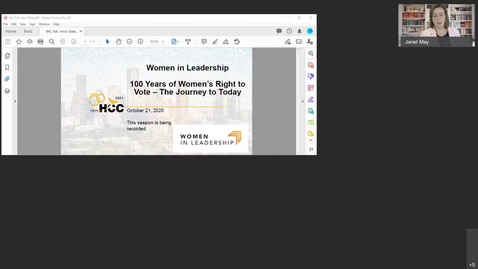 Thumbnail for entry Uploaded by Ruth Dunn: 100 Years of Women's Right to Vote Webinar Fall 2020