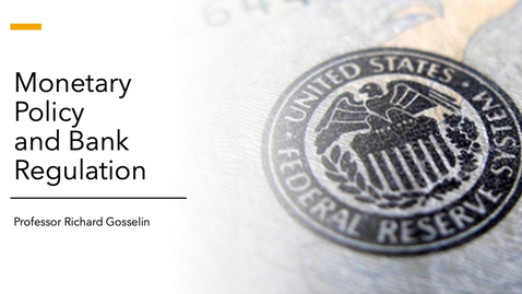 Thumbnail for entry Monetary Policy and Bank Regulation Spring 2020