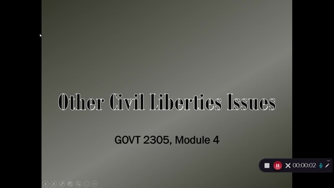 Thumbnail for entry Other Civil Liberties Issues, September 2020