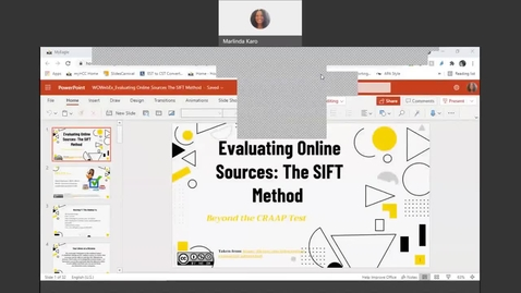 Thumbnail for entry Evaluating Online Sources: The SIFT Method